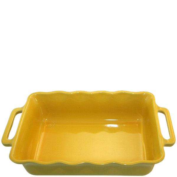 Керамическая прямоугольная форма для выпечки Appolia желтого цвета