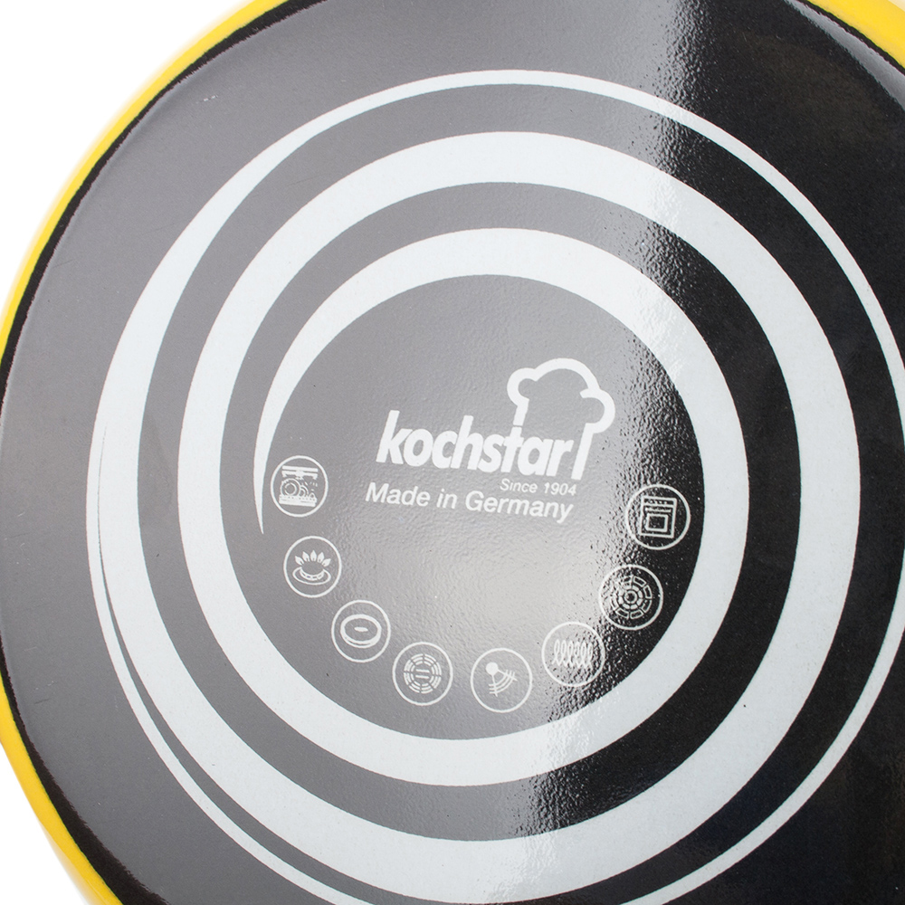 Желтая кастрюля Kochstar Neo 2л с крышкой