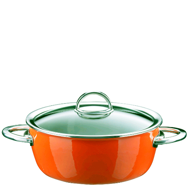 Оранжевая кастрюля Kochstar Neo 3,1л с крышкой