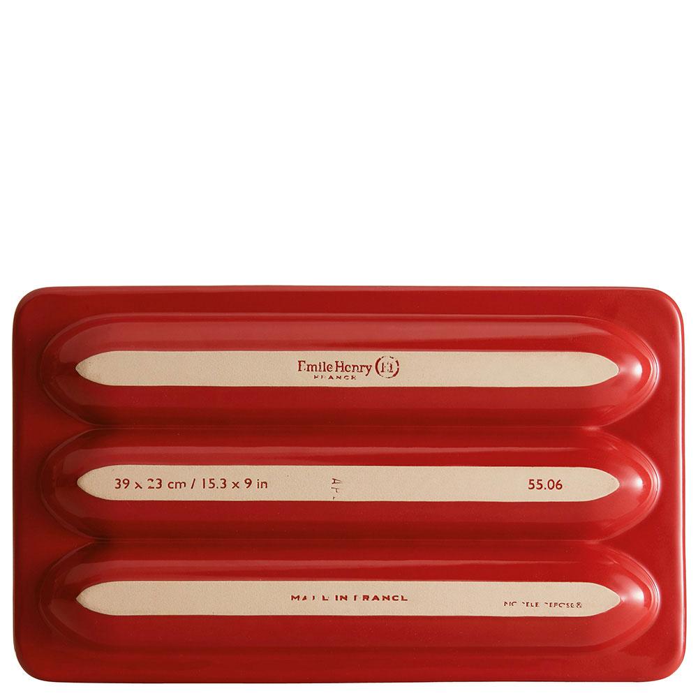 Красная форма Emile Henry для багета