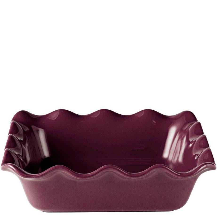 Форма для запекания Emile Henry Urban Colors Figue керамическая квадратная 24 см