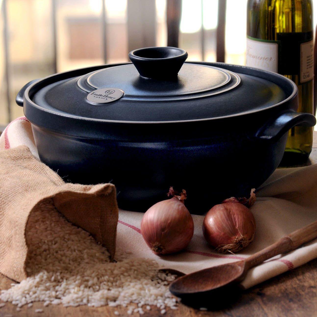 Казан Emile Henry Flame керамический жаропрочный 2,4 л инжирного цвета Figue