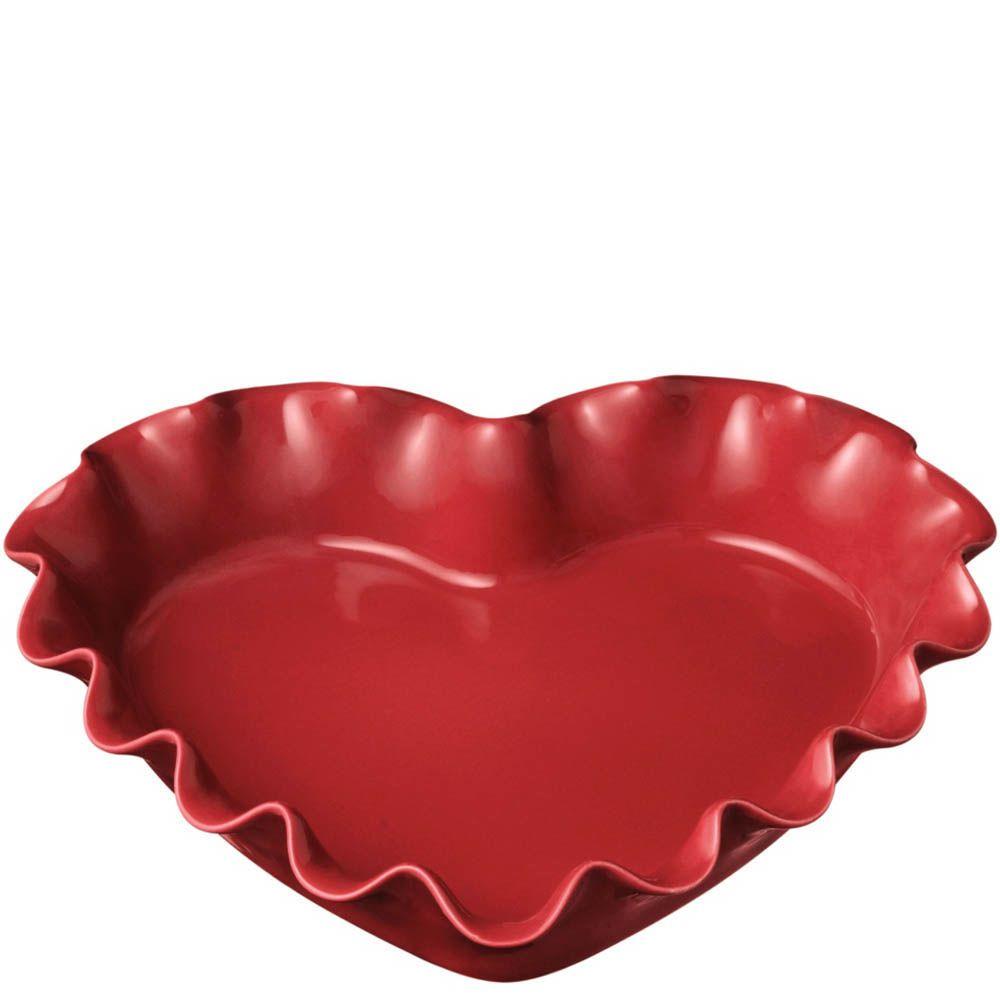 Форма-сердце Emile Henry Urban Colors Framboise с волнистым краем