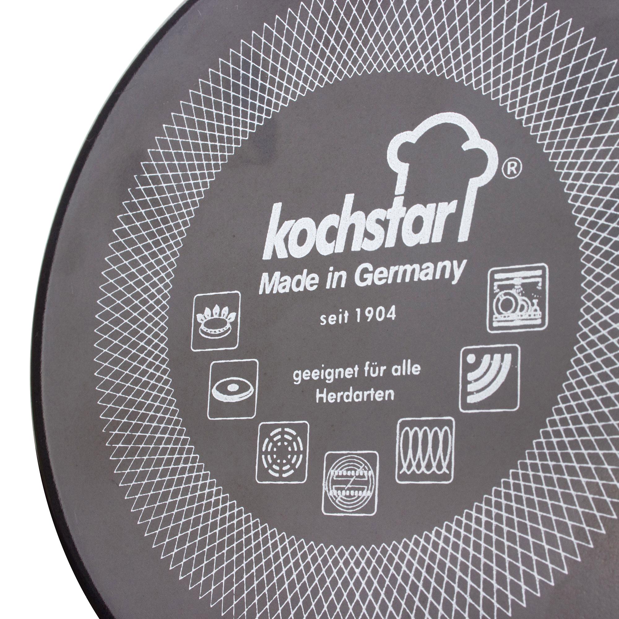 Кастрюля с крышкой Kochstar Metallica 3,7л темно-серого цвета