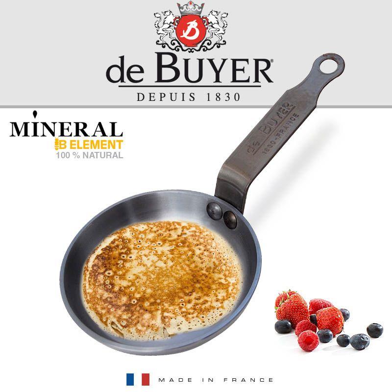 Сковорода-мини для оладьев и блинов De Buyer Mineral B Element 12см