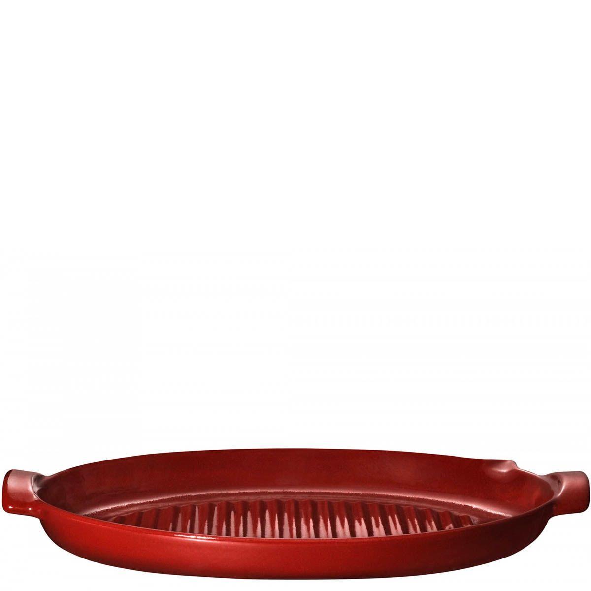 Гриль для рыбы Emile Henry Bbq 50 см керамический красный Rouge