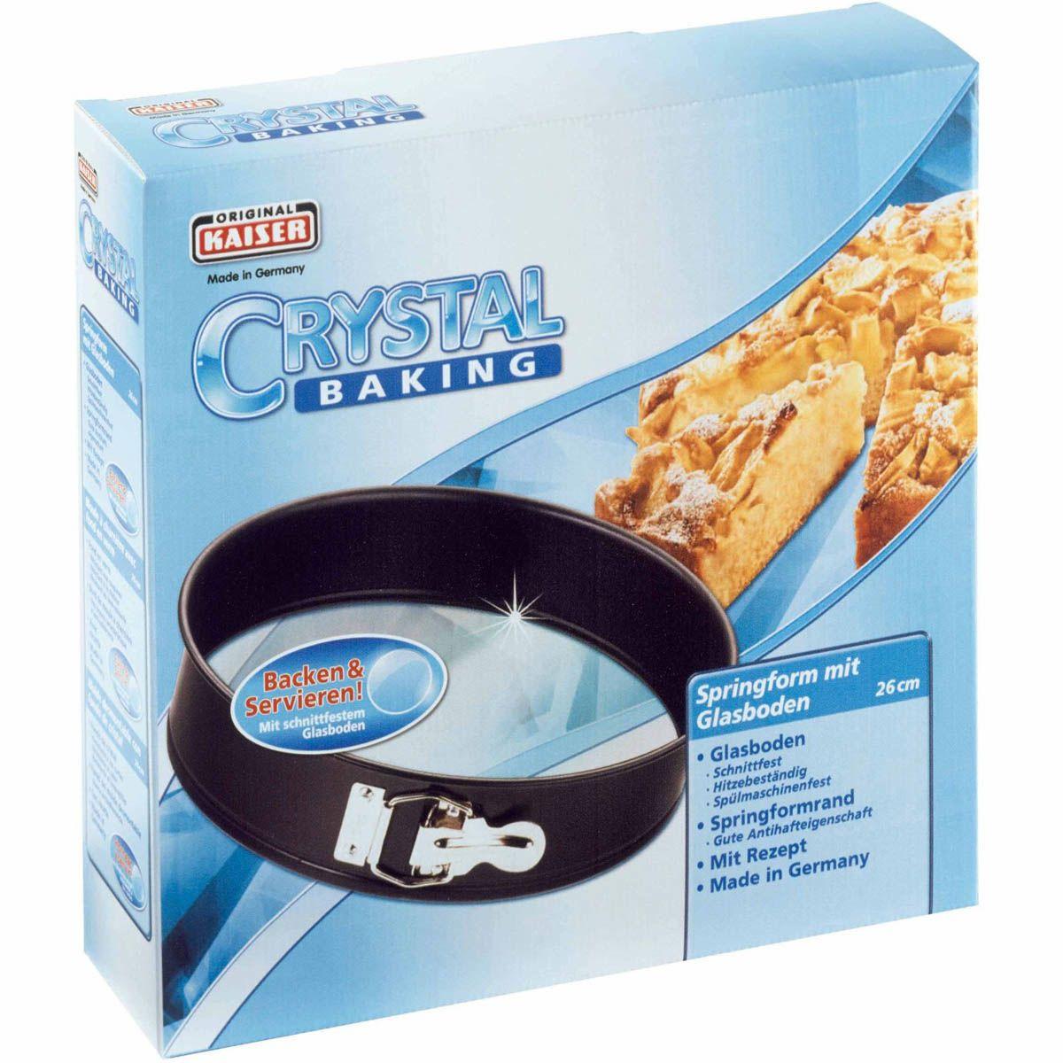 Форма со съемным бортом Kaiser Backform Crystal Baking круглая 26 см со стеклянным дном