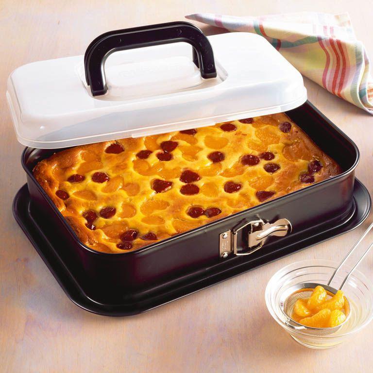 Форма Kaiser Backform Bake And Take прямоугольная 35х24 см со съемным бортом и крышкой