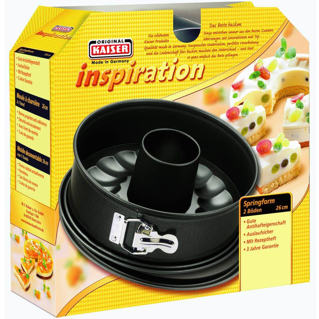 Форма Kaiser Backform Inspiration круглая 26 см со вставкой-сердцевиной для кексов