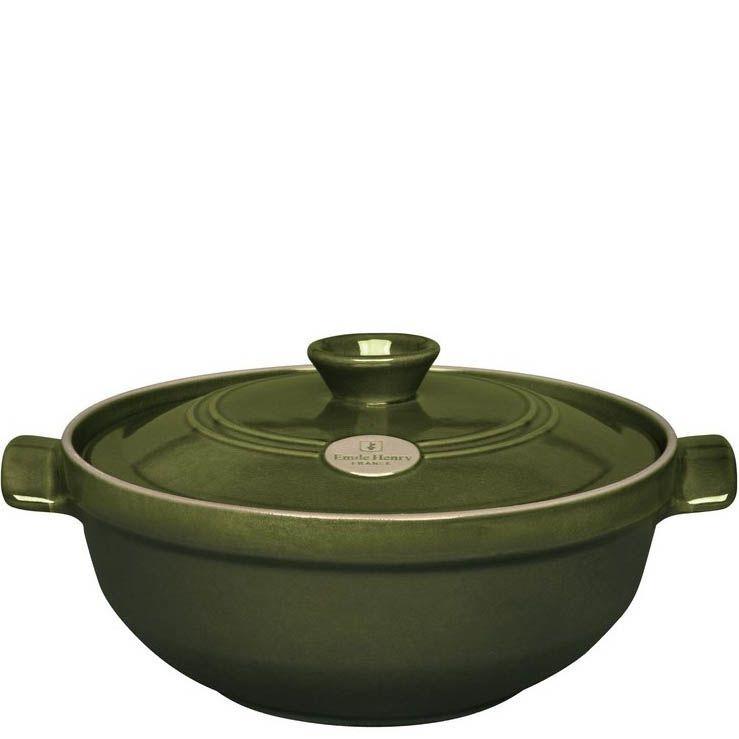 Казан Emile Henry Flame керамический жаропрочный 3.6 л Olive