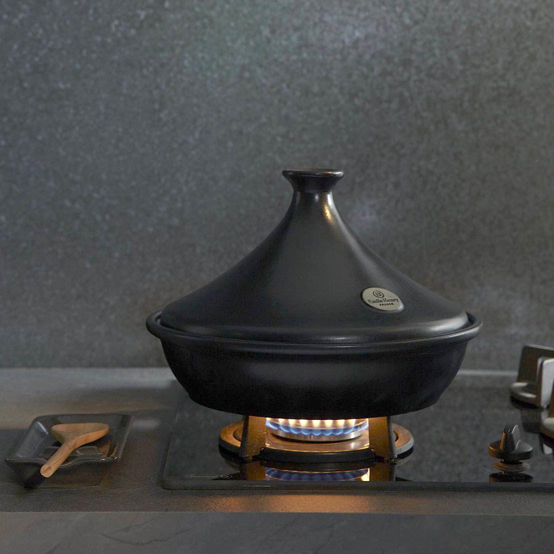 Тажин Emile Henry Flame Bleu Pavot большой 3,5 л керамический с крышкой
