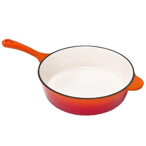 Сотейник чугунный Mario Batali оранжевый, фото