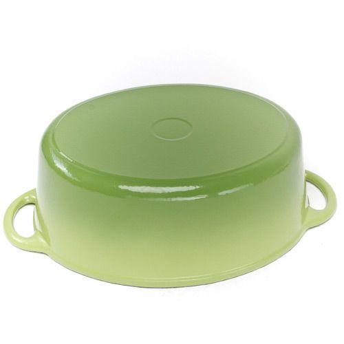 Казан чугунный Mario Batali овальный на 5.7 л салатово-зеленый, фото