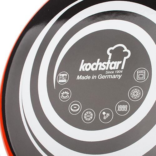 Кастрюля с крышкой Kochstar Neo 6,1л оранжевого цвета, фото