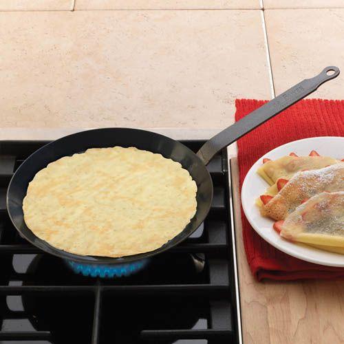 Сковорода для блинов De Buyer Force Blue 24см из вороненой стали, фото