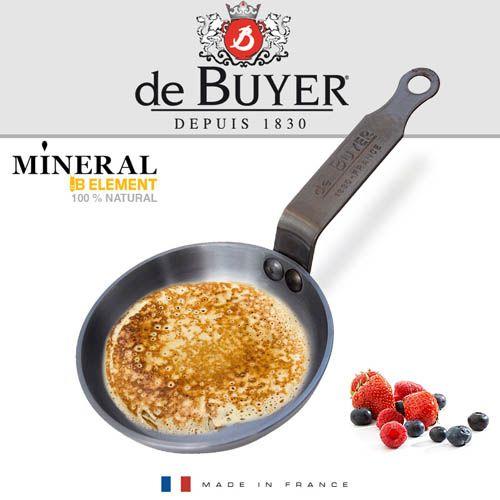 Сковорода-мини для оладьев и блинов De Buyer Mineral B Element 12см, фото