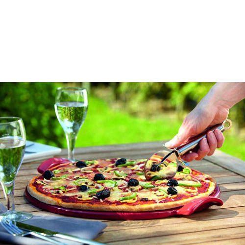 Противень для пиццы Emile Henry Bbq 30 см керамический красный Rouge, фото