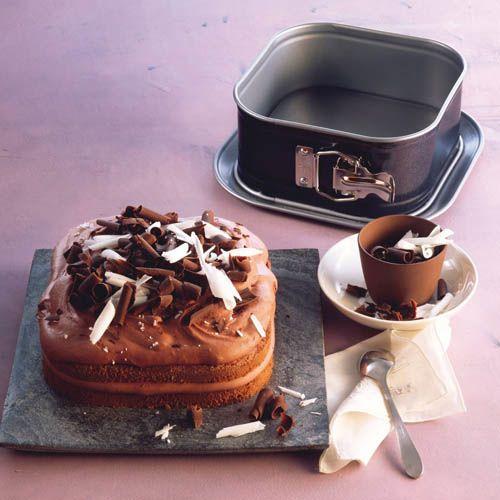 Форма Kaiser Backform Bake And Take квадратная 24 см со съемным бортом и крышкой, фото