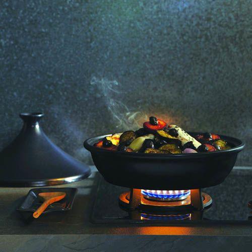 Тажин Emile Henry Flame Noir малый 1.5 л керамический с крышкой, фото