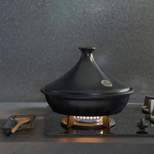Тажин Emile Henry Flame Noir большой 3.5 л керамический с крышкой, фото