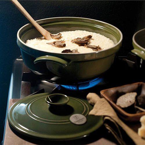 Казан Emile Henry Flame керамический жаропрочный 2.4 л цвета Olive, фото