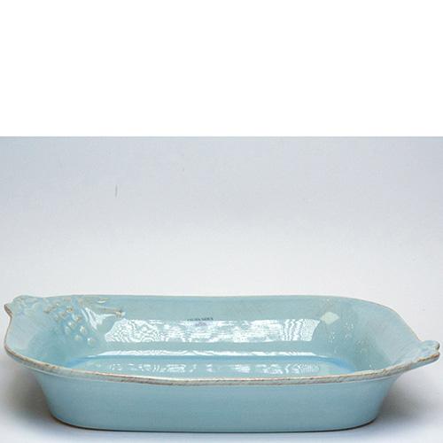 Блюдо для лазаньи Costa Nova Mediterranea 30x23x6см голубое, фото